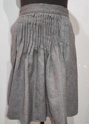 Шерстяная юбка с произвольными защипами