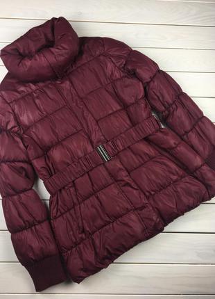 Демисезонная куртка, курточка бордо, винного цвета ellen amber