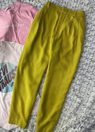 Яркие брюки, штаны zara из недавних коллекций