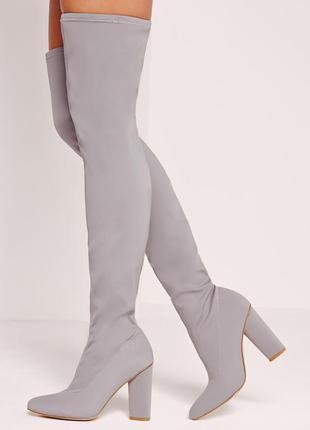 Сапоги ботфорты чулки на устойчивом каблуке от missguided