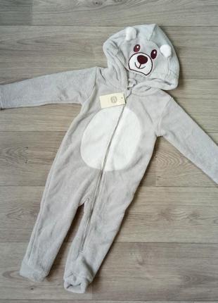 Теплый флисовый кигуруми пижама слипик ромпер тепла флісова піжама кігурумі поддева cool club 86