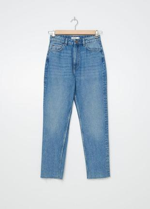Джинсы мом оверсайз высокая посадка штаны брюки