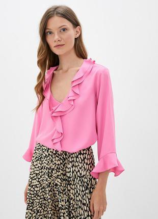 Блуза новая стильная крутая с рюшами wallis uk 16/44/xl