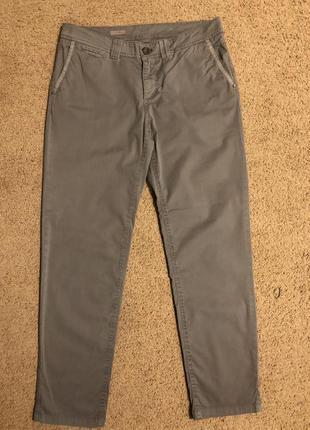Хлопковые брюки чиносы esprit зауженные