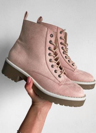 Черевики ботинки в пудровому кольорі від h&m