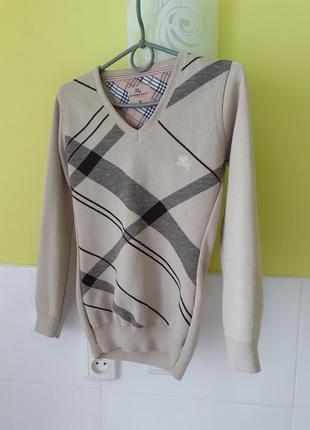 Шерстяной свитер джемпер кофта от burberry
