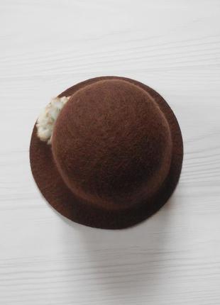 Фетровая шерстяная шляпа ручной работы  moshiki 🌺