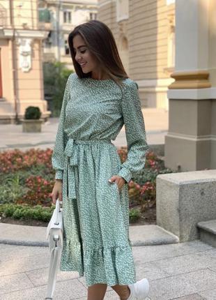 Платье в мелкий горох