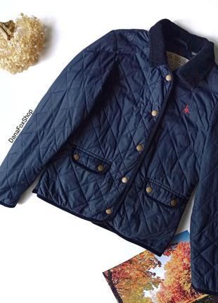 🆂🅰🅻🅴 темно-синя стьогана коротка демісезонна куртка, синяя стёганая куртка jack wills