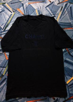 Мужская винтажная футболка chanel paris