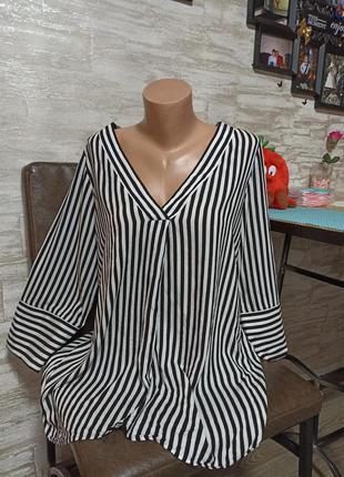 Фирменная блуза в полоску, вискоза в идеале!!!