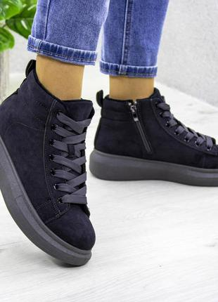 Якісні та стильні  черевички. демисезонні. екозамша, в середині фліс.