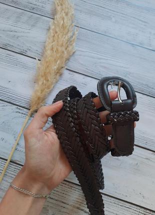 Ремень пасок плетений  ремешок пояс