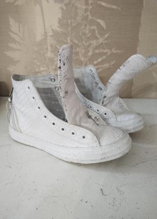 Высокие кожаные кеды converse  chuk tailor all star 40/25.5 оригинал вьетнам