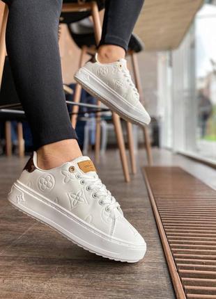 🔥 шикарные белые кроссовки 🔥