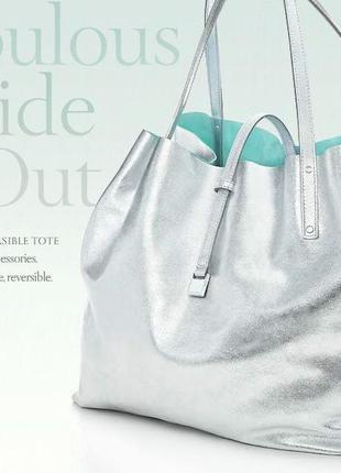 Tiffany двухсторонняя сумка оригинал италия кожа
