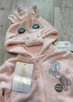 Кигуруми пижама единорог primark 122 см