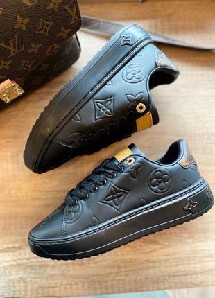 Стильные женские чёрные кроссовки 💣