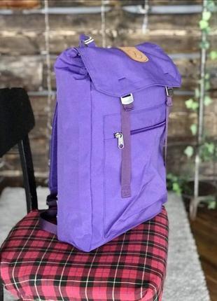 Рюкзак фиалетовый fjallraven foldsack 1, спортивный, городской, туристический, портфель  фялравен сиреневый, спортивний, туристичний, канкен, kanken