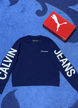 Свитшот кофта calvin klein m big logo оригинал