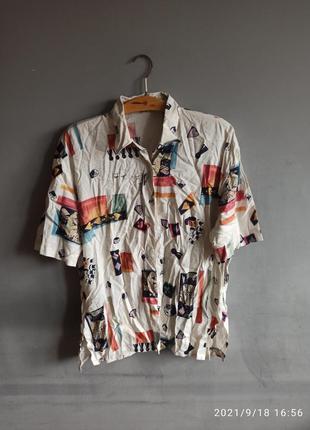 Вінтажна рубашка ретро biaggini
