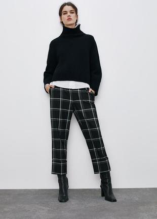 Укорочені брюки в клітку (демисезон)
