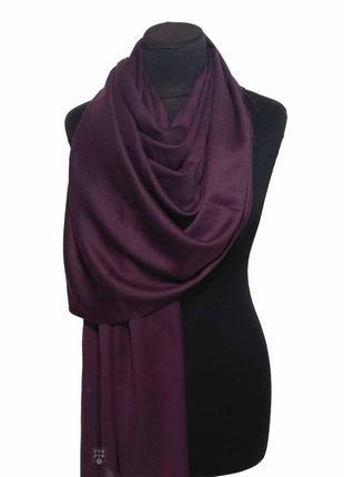 Хлопковый шарф палантин хлопок фиолет ежевика весенний осенний однотонный новый