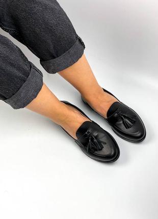 Туфли лоферы балетки натуральная кожа