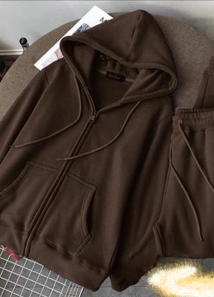 Женский теплый костюм трехнитка на флисе #4667.цвета в описании