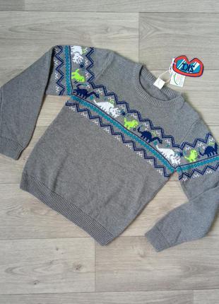 Вязаный свитер свитерок джемпер светр cool club 140