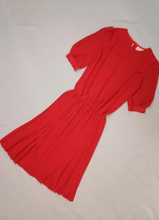 Платье в винтажном стиле юбка плиссе  винтаж