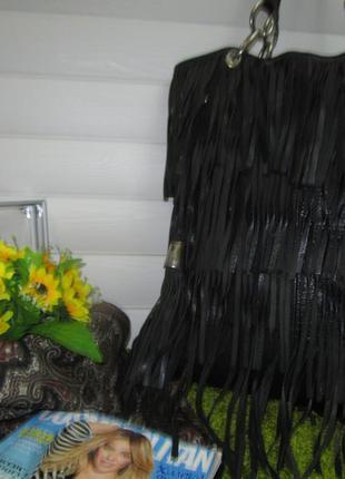 Большая кожаная сумка шоппер испанского бренда zara нат. кожа