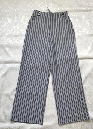 Широкие брюки кюлоты палаццо высокая посадка
