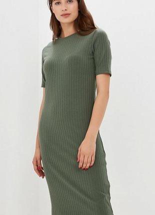 Платье миди цвета хаки от reserved