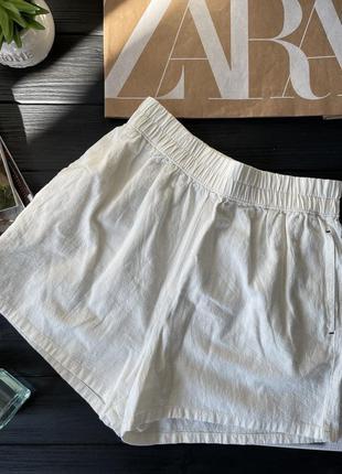 Льняные шорты zara , размер xs