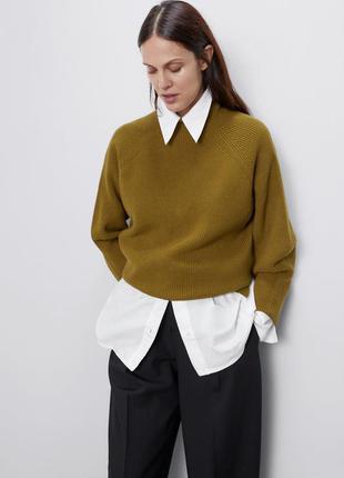 Крутезний светр від зара кольору хакі!