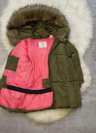 Тёплая куртка zara 2-3 года