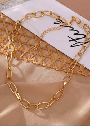 Цепочка чокер колье ожерелье под золото новое