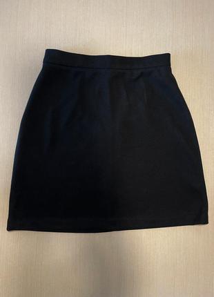 Юбка чёрная befree очень мягкая матовая, размер m, длина 45 см, талия 65 см