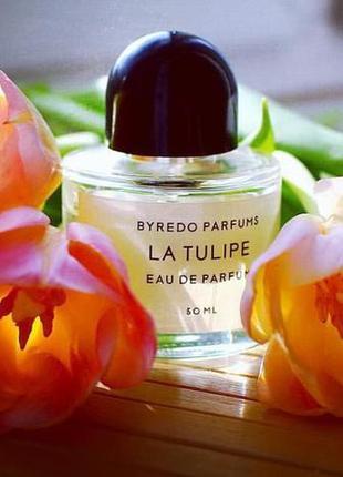 Парфюмированная вода la tulipe byredo ( пробник распив)