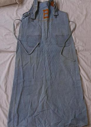 Сарафан джинсовый платье комбинезон туника