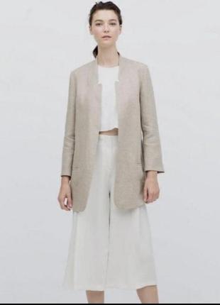 Пиджак жакет из льна zara