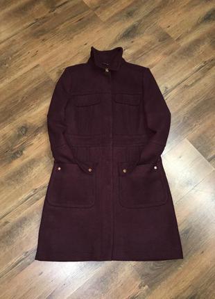 Брендовое стильное шерстяное пальто peruna от marks & spencer оригинал