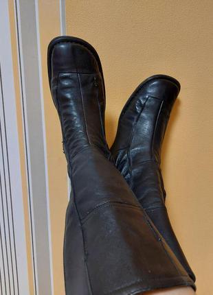 Крутые кожаные сапожки vagabond с квадратным носком на низком ходу