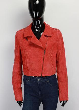 Фирменная заишевая косуха куртка zara mango vera pelle