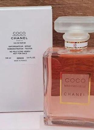 Тестер парфюмированная вода женская chanel coco mademoiselle(коко мадмуазэль) 100 мл