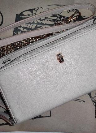 Маленькая сумочка-клатч кошелёк кроссбоди из эко-кожи cropp