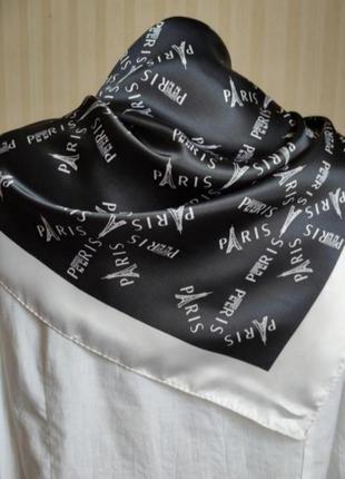 Платок винтаж, искусственный шелк, франция
