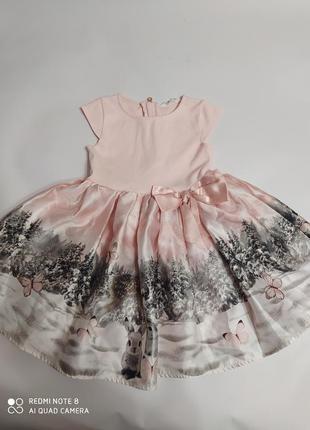 Платье с зайчиками