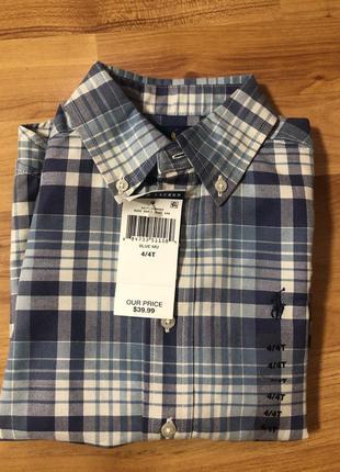 Сорочка для хлопчика на 4 роки , фірми ralph lauren, оигінал,нова.